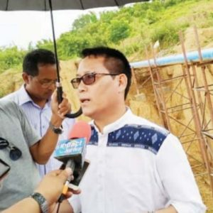 Minister Letpao Haokip in Khuga Dam Right & Left Side Canal etkhietna nei