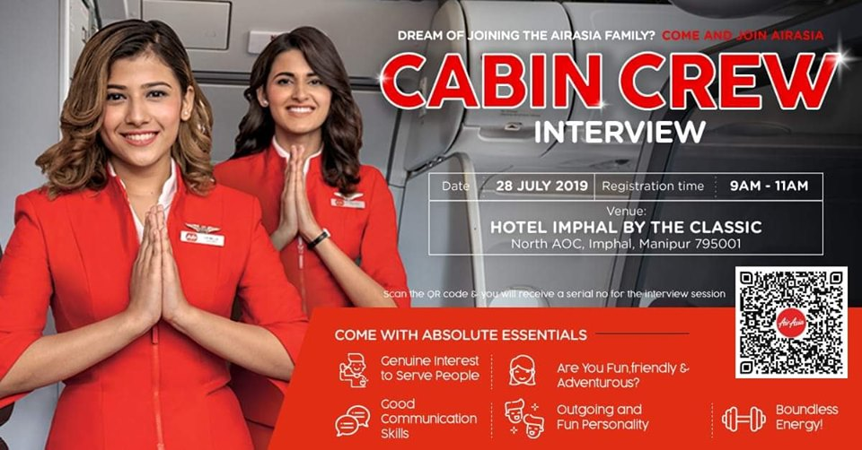 CABIN CREW INTERVIEW AT HOTEL IMPHAL ON DATE 28 JULY 2019