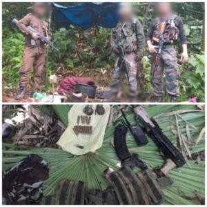 In seperate operations, two suspected NSCN (IM) hideouts were destroyed by Assam Rifles on Sunday in Changlang in Arunachal Pradesh.