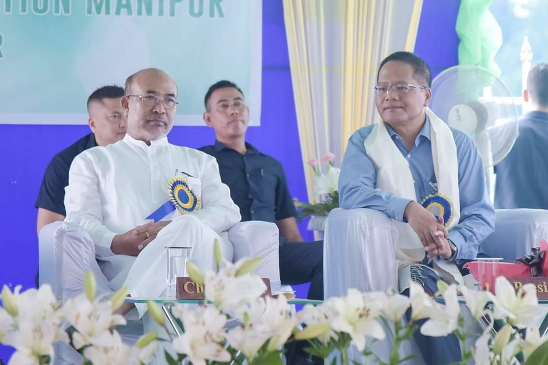 Hon'ble CM N Biren Singh inaugurates Directorate Building of Department of Horticulture and Soil Conservation at Sanjenthong, Imphal.