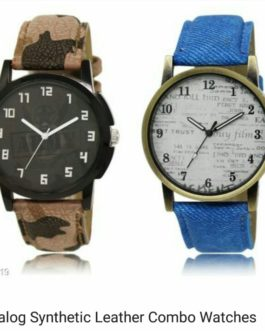 Analog Synthetic Leather Combo Watches