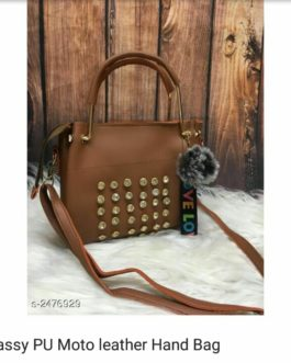 Classy PU Moto leather Hand Bag Material: PU Leather