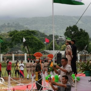 A 73 vei na India'n Independent Day Lamka,Churachandpur Public Ground ah law ting tak in maw zaw ahi tai.