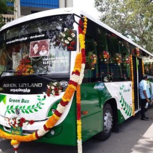 TN CM launches first electric bus in Chennai for public