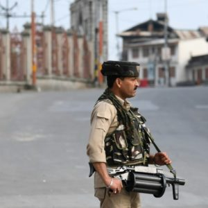 Armed soldiers patrol silent streets after Kashmir curfew