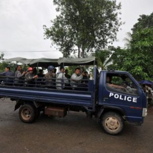 Police convoy hit by landmine near Ponnagyun, one dead