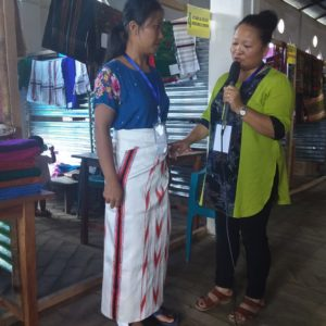 Interview with District Level Hand loom Mela/Exhibition Store | Video hung suak pai ta ding