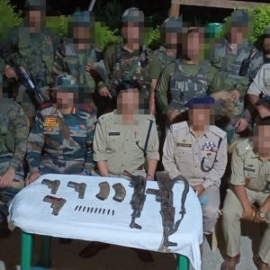 JOINT TEAM RECOVERS HUGE CACHE OF WEAPONS AND AMMUNITION
