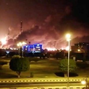 Yemen rebel drones hit two Saudi Aramco plants, sources say oil supplies disrupted
