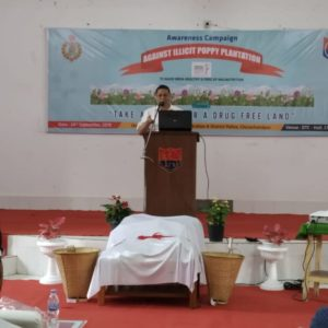 Pu LM Khaute, IPS, DGP in awareness Campaign Against illicit Poppy Cultivation na thugen