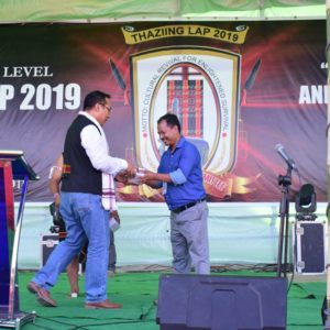 GETINLAMKA.COM RECEIVING AWARD DURING THE 4TH STATE LEVEL THAZING-LAP 2019.