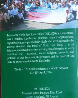Transform North East India,Revitalize The Church & Community Book @ Rs.200.