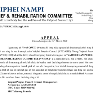Vaiphei Nampi Relief & Rehabilitation Committee in appeal bawl