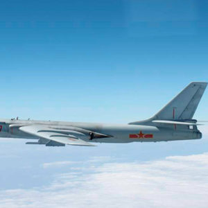 PLA bombers approach Taiwan island from the east