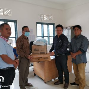 Minister V.Hangkhanlian in Churachandpur College,Quarantine Centre te PPE kid leh van chi chuam chuam pia