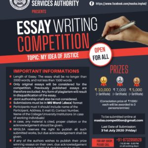 Manipur State Legal Services Authority | Essay Writing Competition