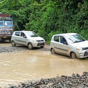 DRIVERS URGE GOVERNMENT TO REPAIR HIGHWAY IN MANIPUR