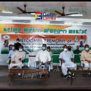 Two BJP councillors and workers join Congress in Manipur