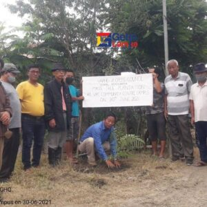 Pu Hauneilal President,VPC Planting Trees at VCC Campus