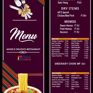 Angel's Delight Restaurant | New Bazar, Red Cross Road | Main Dishes| Call 9609994931