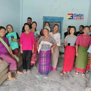 Rice Distribution at Ngarian Village By T.Thangzalam Haokip